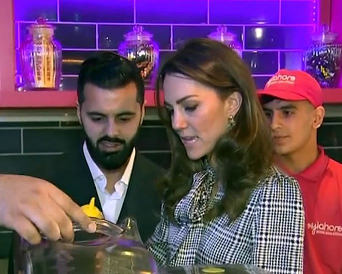 William & Kate visit MyLahore in Bradford - flavouring