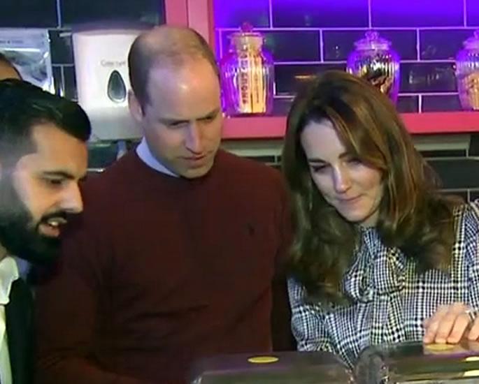 William & Kate visit MyLahore in Bradford - lassi