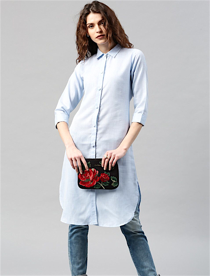 20 Stylish Kurtis to Wear with Jeans - 8