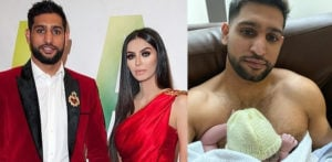 Amir Khan and Faryal Makhdoom welcome their Baby Boy f