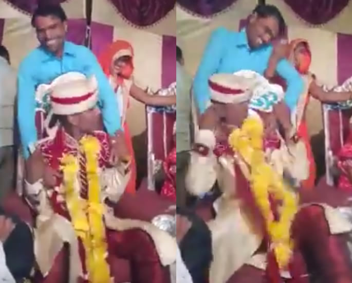 Angry Indian Groom erupts into Fight at His Wedding - man