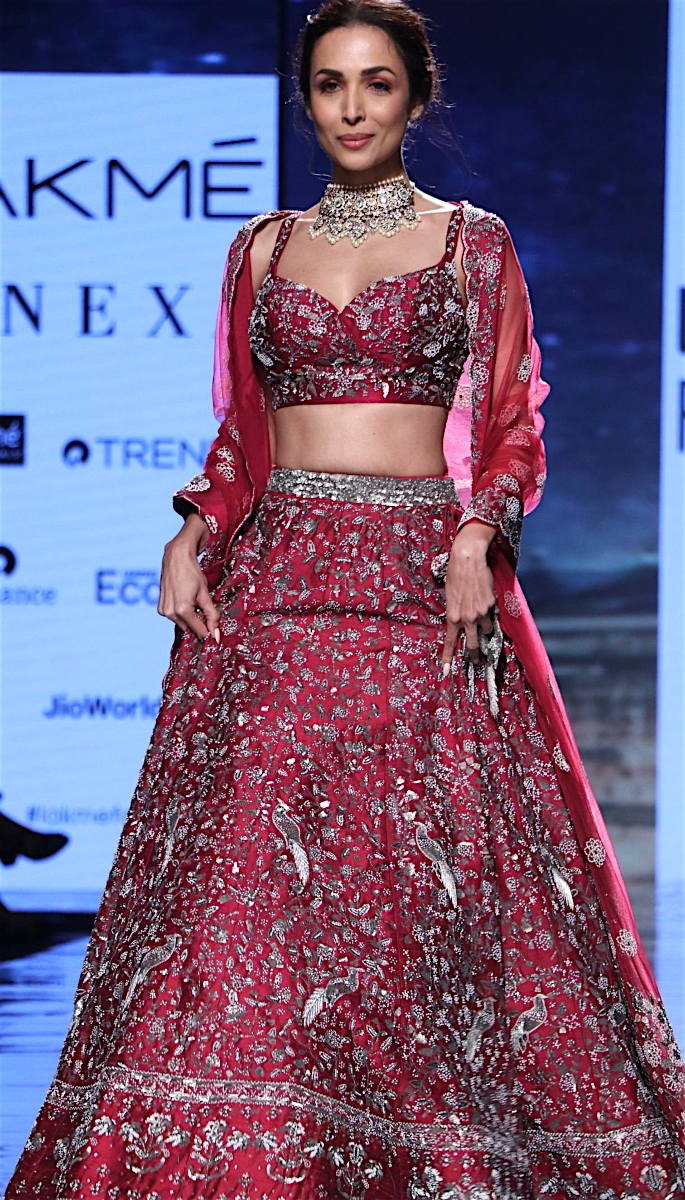 Bollywood Stars Walk the Ramp at Lakme Fashion Week 2020 - malaika