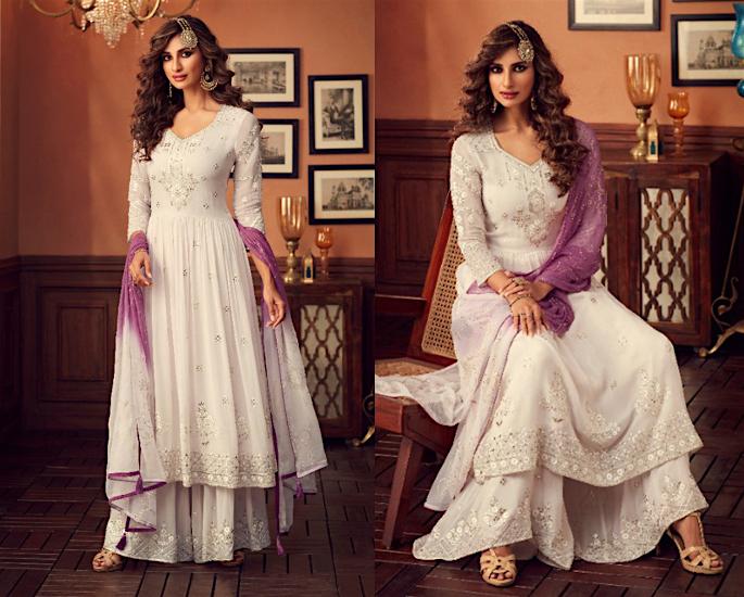 Gorgeous Wide Leg Salwar Kameez Suits to Wear - purple
