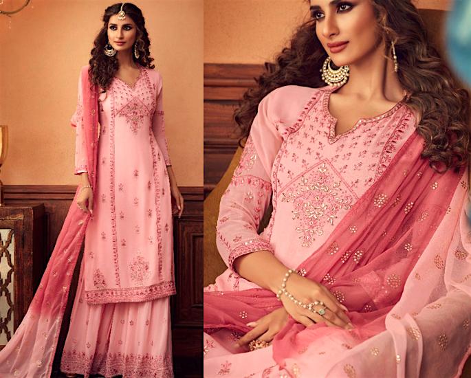Gorgeous Wide Leg Salwar Kameez Suits to Wear - vibrant pink
