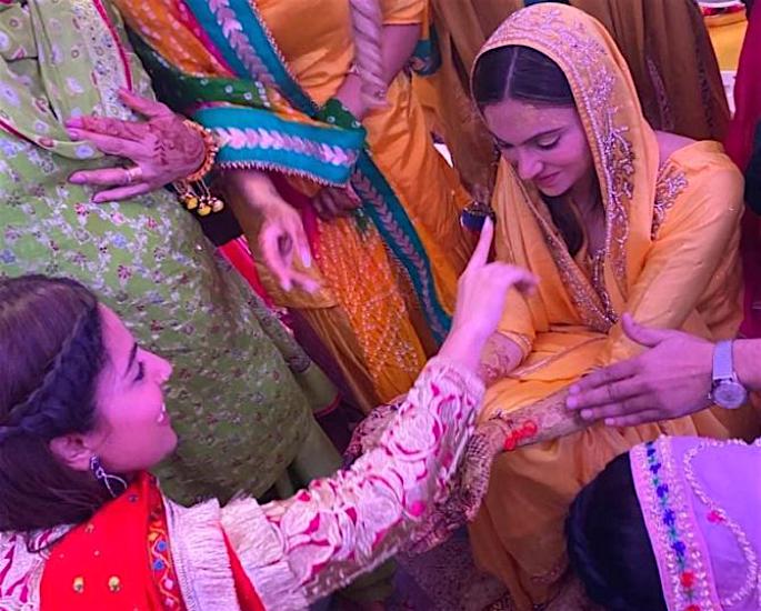 Gurdas Maan's Son Gurikk marries Simran at Lush Ceremony - haldi