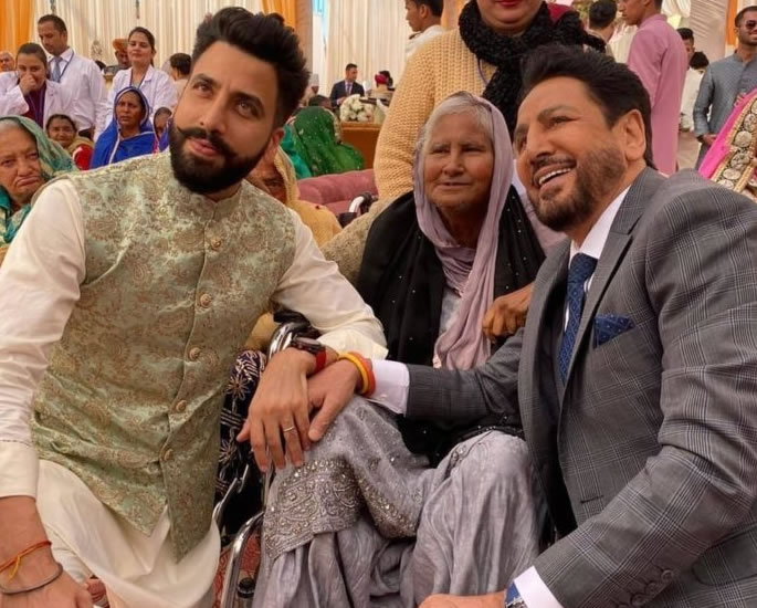 Gurdas Maan's Son Gurikk marries Simran at Lush Ceremony - grandma