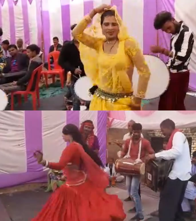 Indian Bride & Groom get Married with their 7-month-old Son - dancers