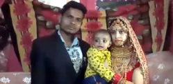 इंडियन ब्राइड एंड ग्रूम मैरिज अपने 7 महीने के बेटे के साथ