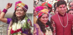 Indian Bride arrives on Horse to Marry NRI Groom