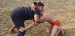 Indian Woman Wrestler fights in Match against Man