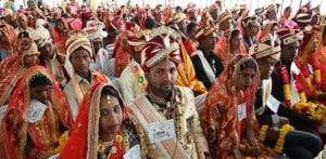 Over 3,350 Indian Couples marry at Mass Wedding f