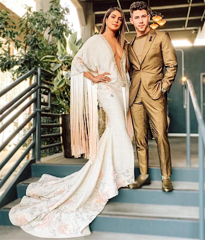 Priyanka's Mum reacts to Daughter's Grammy 2020 Dress - husband
