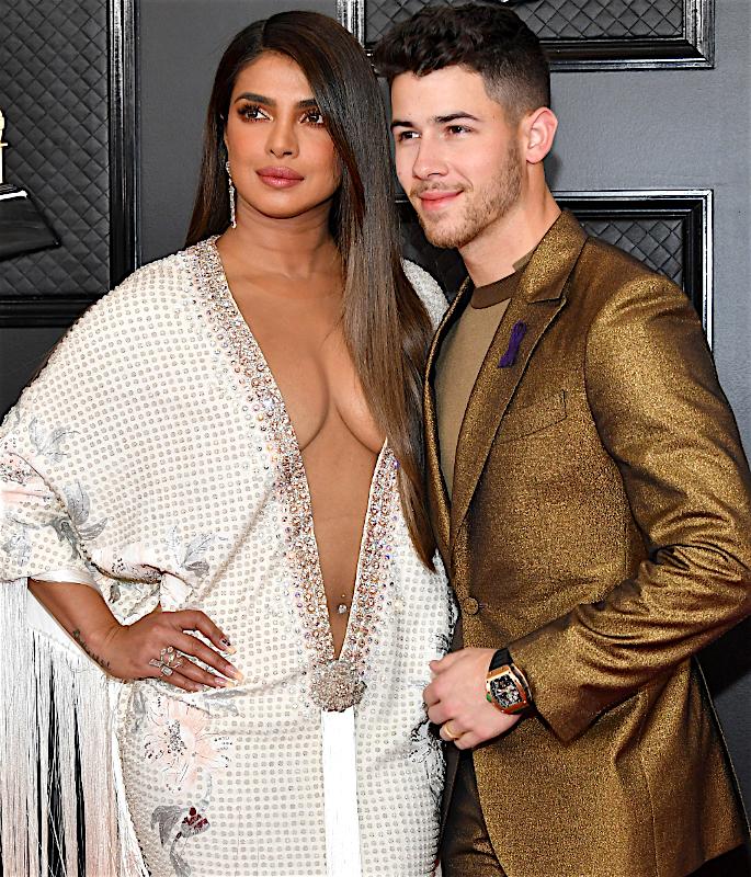 Priyanka's Mum reacts to Daughter's Grammy 2020 Dress - husband2