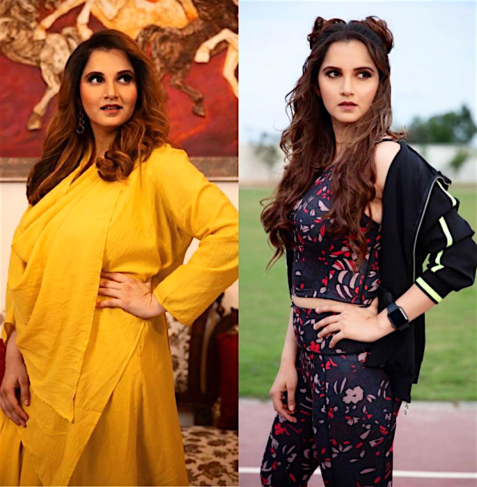 Sania Mirza shares Weight Loss Transformation - weight loss