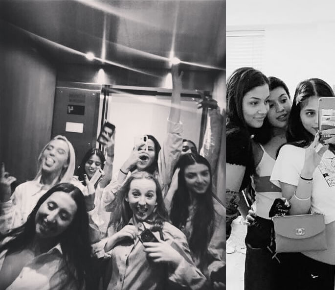 Suhana Khan partying with Her Friends goes Viral - girls