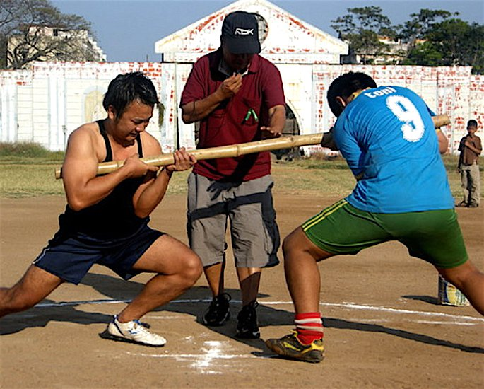 Ten Unusual and Weird Sports Played in India - stick