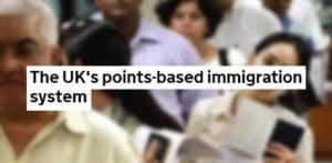 યુકે સરકાર પોઇન્ટ્સ આધારિત ઇમિગ્રેશન સિસ્ટમ રજૂ કરે છે એફ