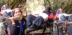 Women walked 20 km Carrying Pregnant Lady to a Clear Path