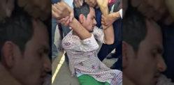 इंडियन मैन ने सलवार सूट पहनकर एक महिला को पीटा