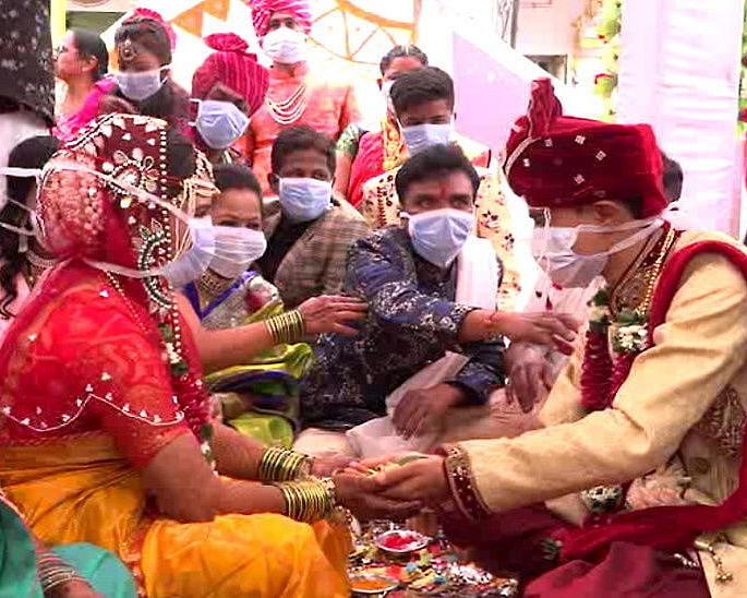 Harusi za India hufanyika na Masks On wakati wa COVID-19 - harusi1