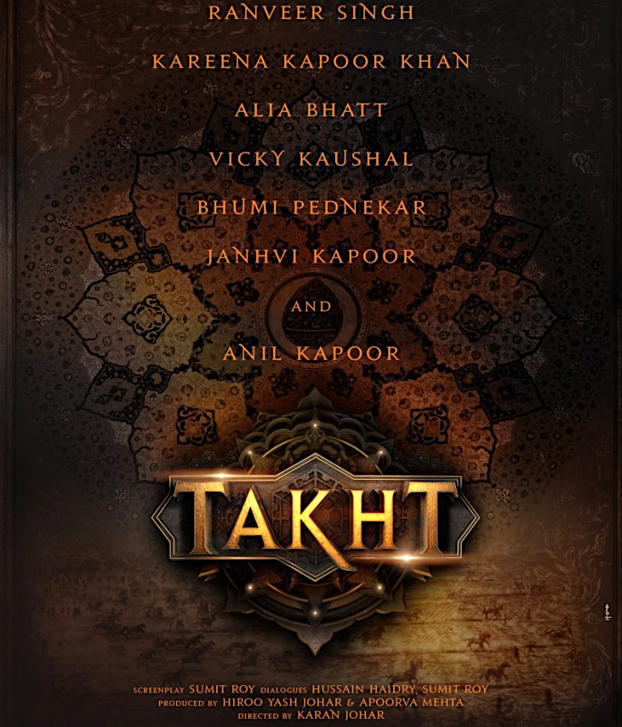Karan Johar's 'Takht' not going to be Made? - cover