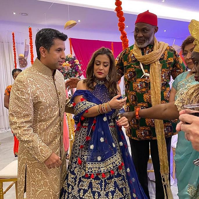 Namaste Wahla unites Bollywood & Nollywood Love - set
