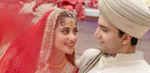 TV stars Sajal Ali & Ahad Raza Mir get Married in Dubai f
