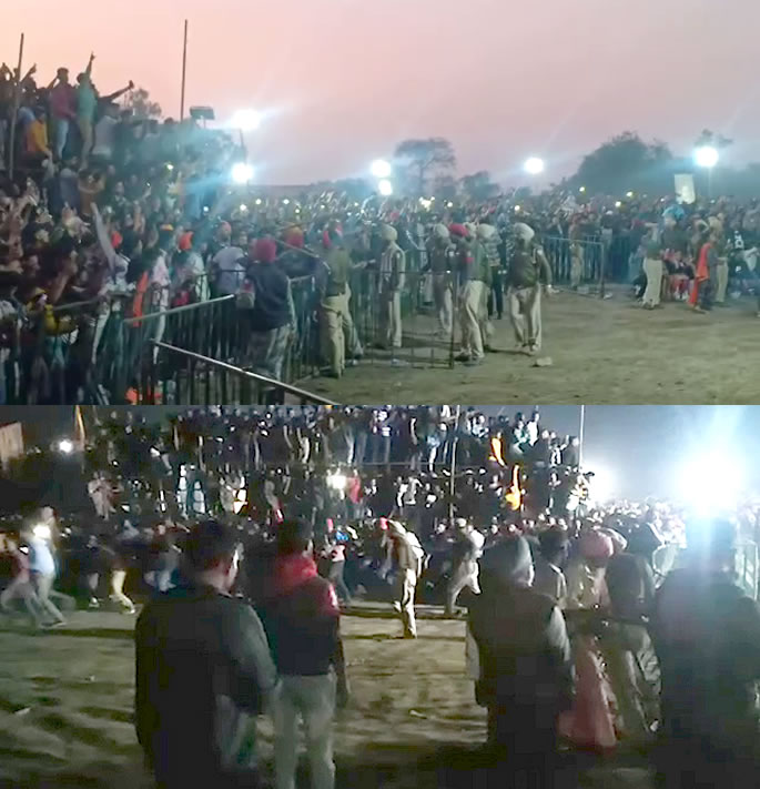 Violence & Fights erupt at Babbu Maan Concert - crowds