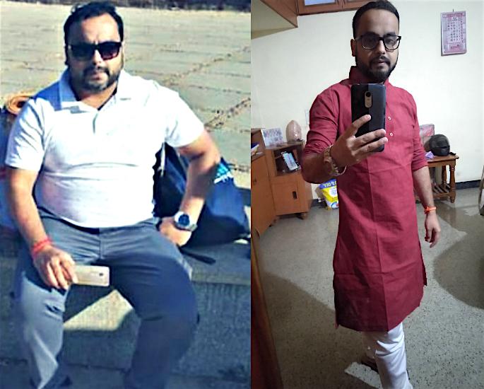 Anubhav Kumar's incredible Weight Loss Transformation - before&after