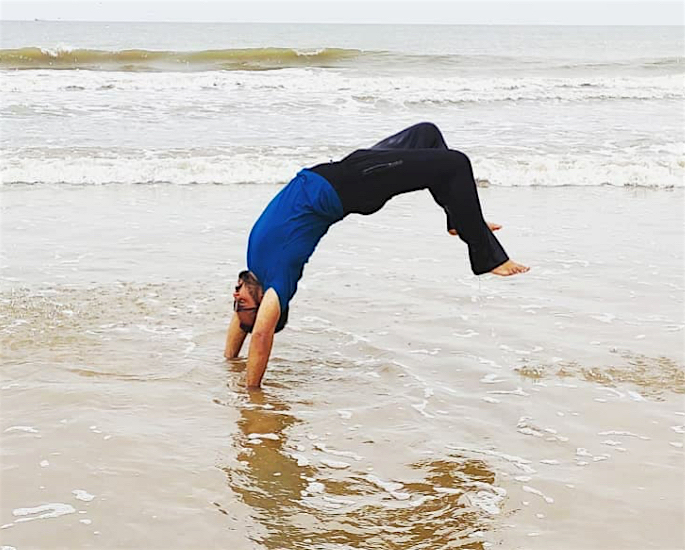 Anubhav Kumar's incredible Weight Loss Transformation - hand stand