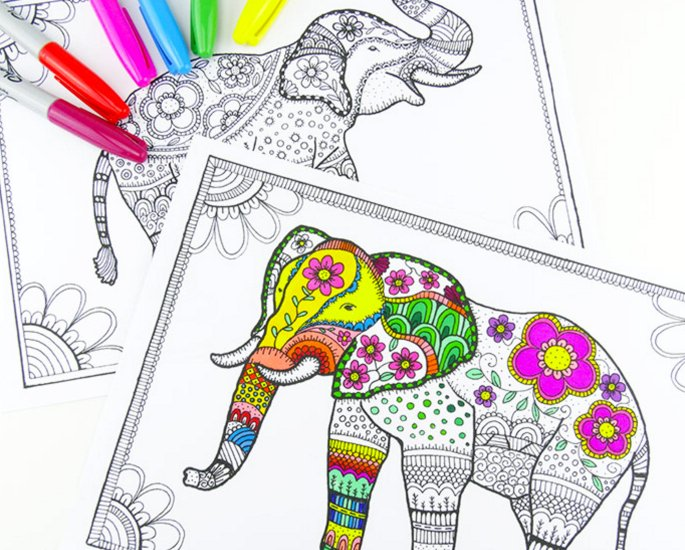 Arts & Crafts Ideas for Adults during Lockdown - colouring books