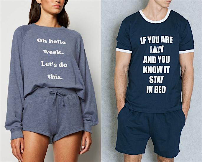 Best Loungewear Ideas to Wear during Lockdown - slogan