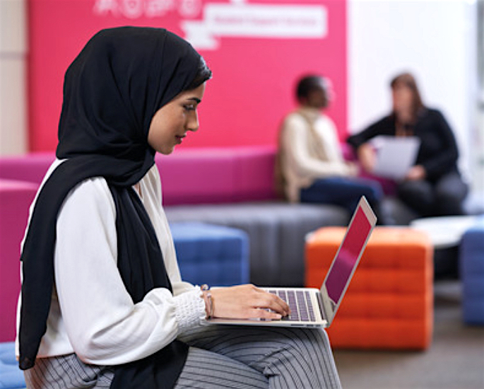 Careers and Support at Aston University for BAME Students - hijab