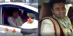 Indian Groom drives Himself to His Wedding amid Curfew