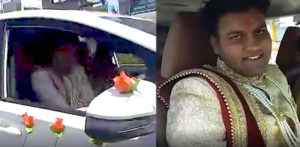 Indian Groom drives Himself to His Wedding amid Curfew f