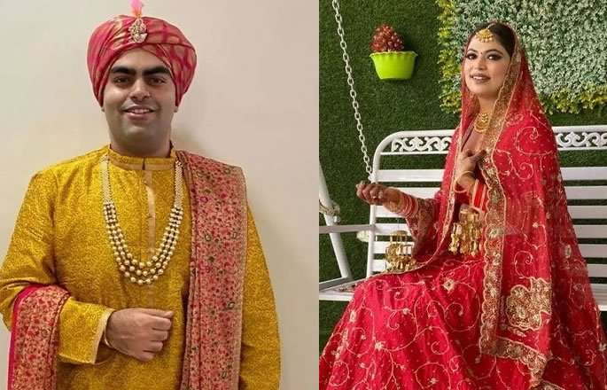Indian Wedding takes Place using Zoom Video App - couple