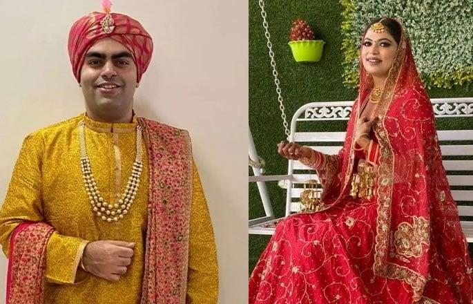 भारतीय शादी ज़ूम वीडियो ऐप - युगल का उपयोग करके जगह लेता है