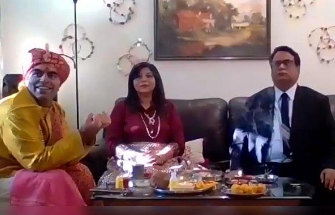 भारतीय शादी ज़ूम वीडियो ऐप - दूल्हे का उपयोग करके जगह लेता है