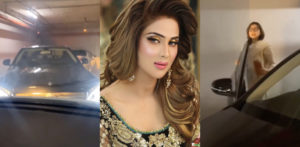 Pakistani Actress Fiza Ali caught in Fight in Car Park f