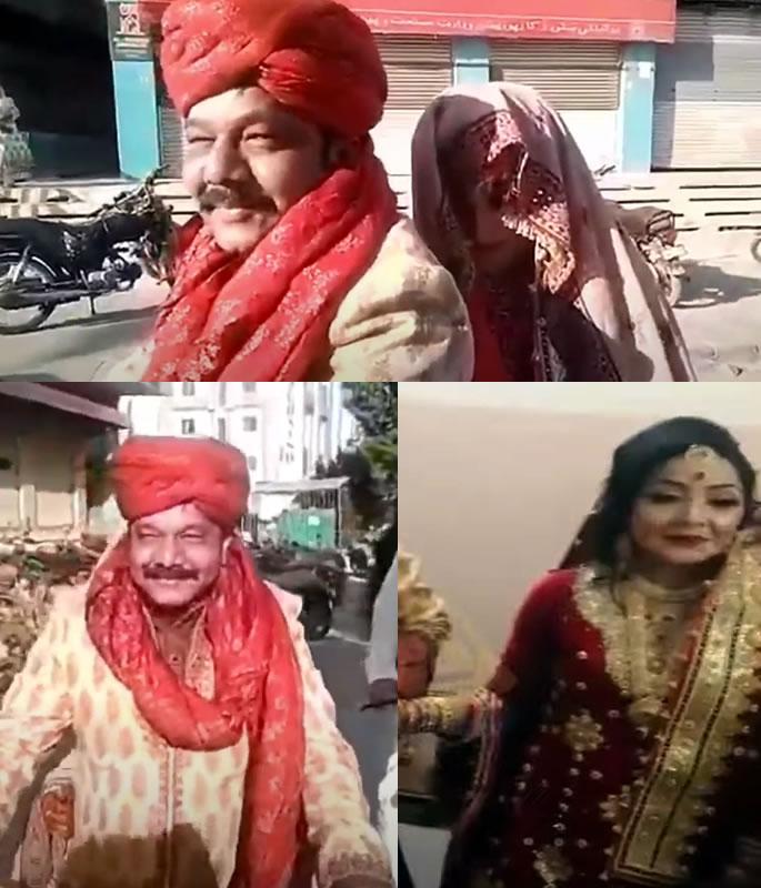 Pakistani Groom takes Bride on Motorbike amid Pandemic - couple
