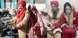Pakistani Groom takes Bride on Motorbike amid Pandemic
