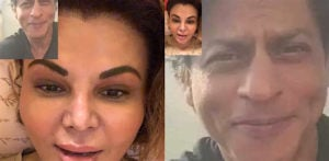 Rakhi Sawant gets Trolled for sharing Fake SRK Screenshots f