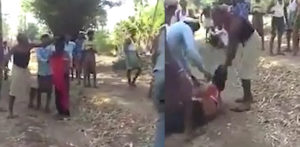 Indian Girl Beaten in front of Father for Eloping with Man f