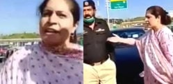 Pakistani 'Colonel's Wife' Abuses & Tries to Run Over Officers