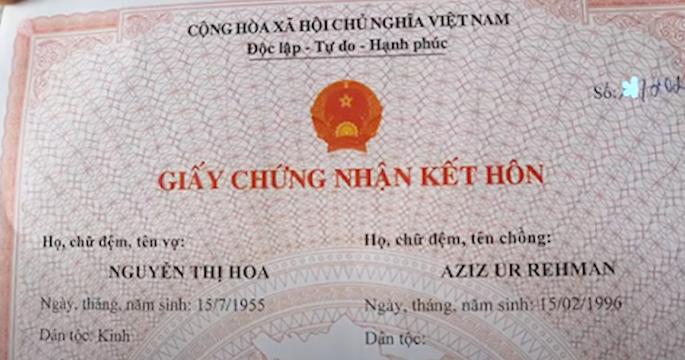 Pakistani Man marries Vietnamese Woman with 41-year Gap