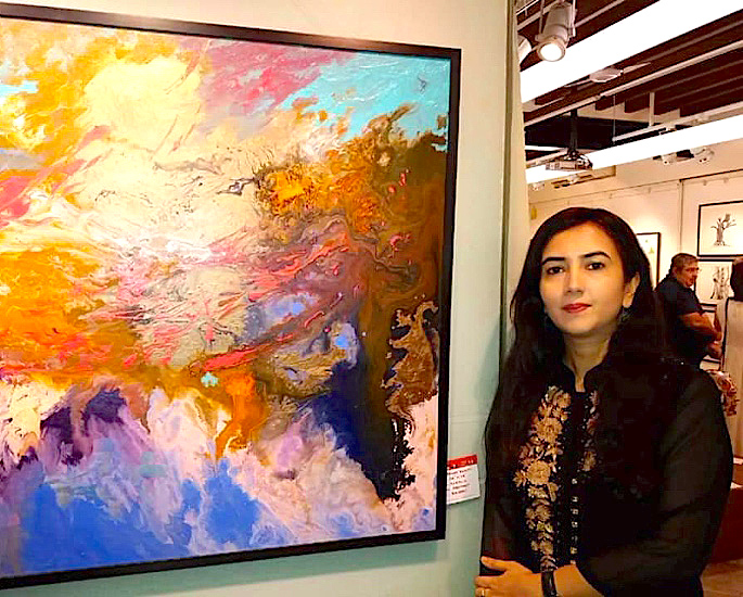 Rahat Kazmi: A Remarkable & Creative Abstract Painter - IA 5