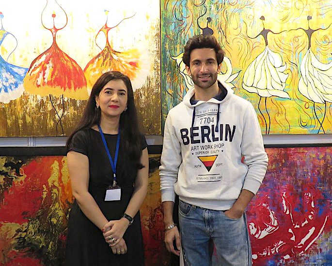 Rahat Kazmi: A Remarkable & Creative Abstract Painter - IA 7