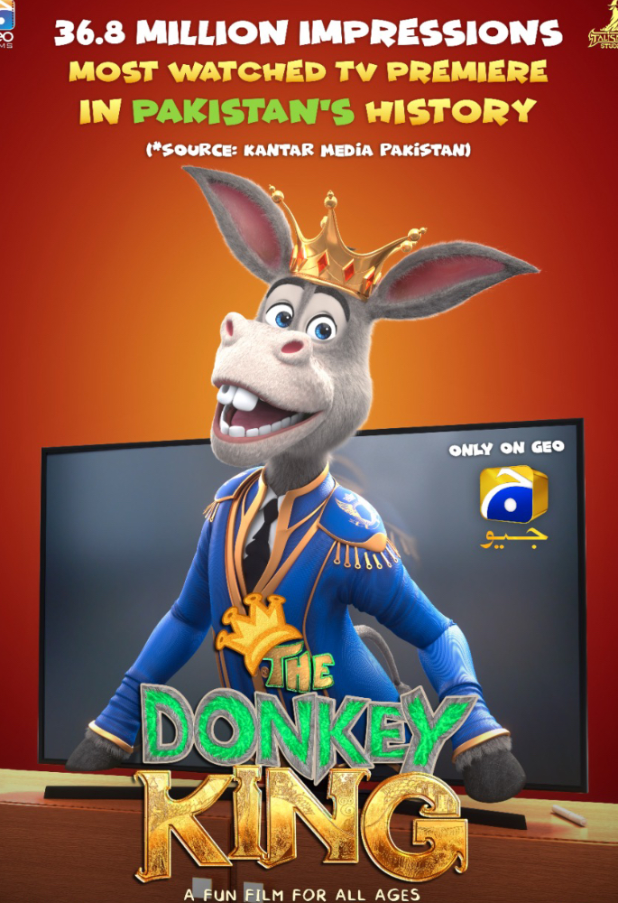 'The Donkey King' makes History on Pakistani Television - poster