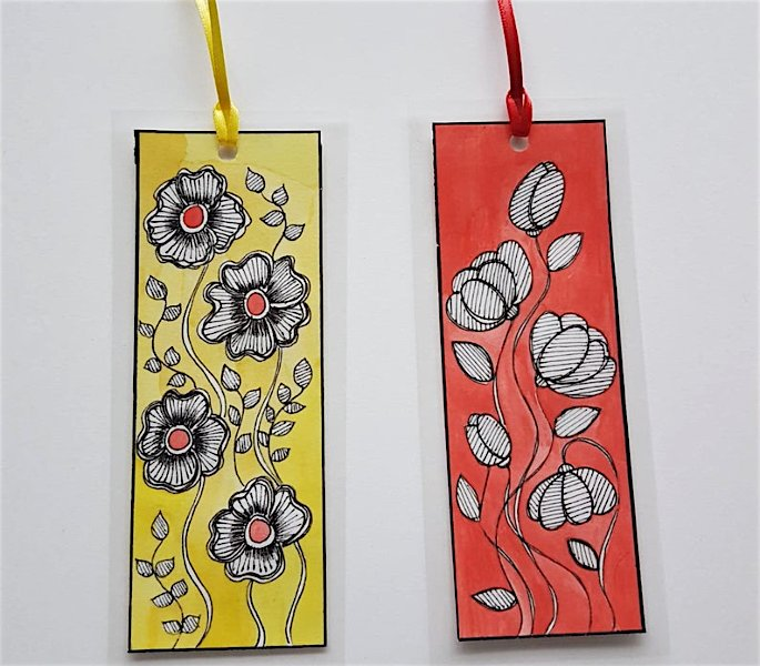 12 Indian Arts & Crafts you can Learn at Home -Warli Bookmarks