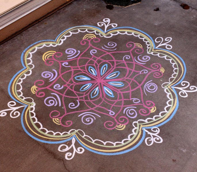12 Indian Arts & Crafts you can Learn at Home - rangoli